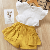 Baby Flutter Sleeve Top and Shorts Outfit
