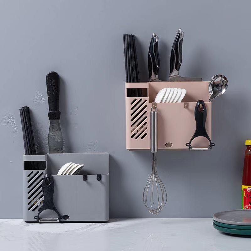Kitchen sticky wall-mounted tableware storage rack-homeware