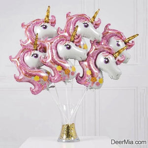 10pcs-20 INCH Unicorn Shaped Decorative Balloon