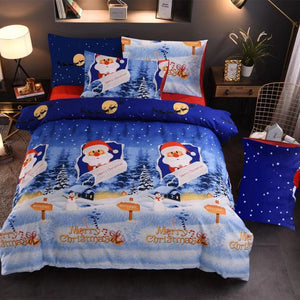 Christmas bedding in four styles - three-piece Christmas bed
