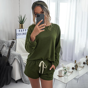 Casual 2-piece Long-sleeve Comfy Loose Loungewear Sets