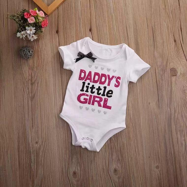 I am Dad's little lover short-sleeved tight-fitting jumpsuit