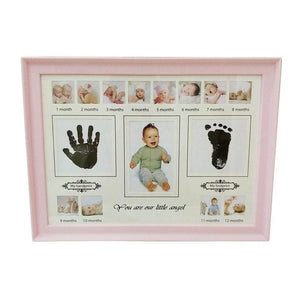 Baby's First Year Photo Frame Hand Inkpad Watermark Souvenir