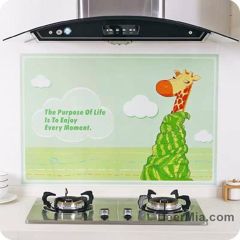 Kitchen aluminum foil oil proof wall sticker