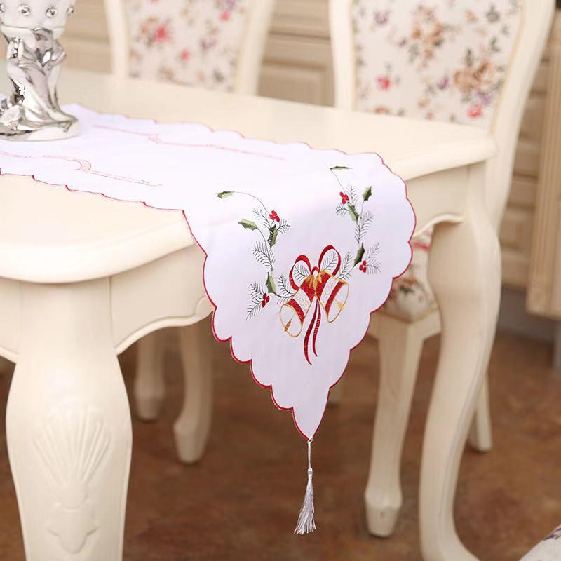 Christmas Decorations - European Embroidered Openwork Table Flag