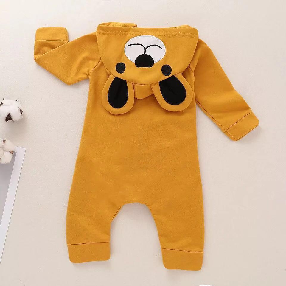 Baby Boy / Girl Animal Bear Long Sleeve Jumpsuit
