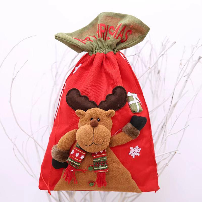 Christmas Decorations - Large Christmas Doll Shaped Gift Bag