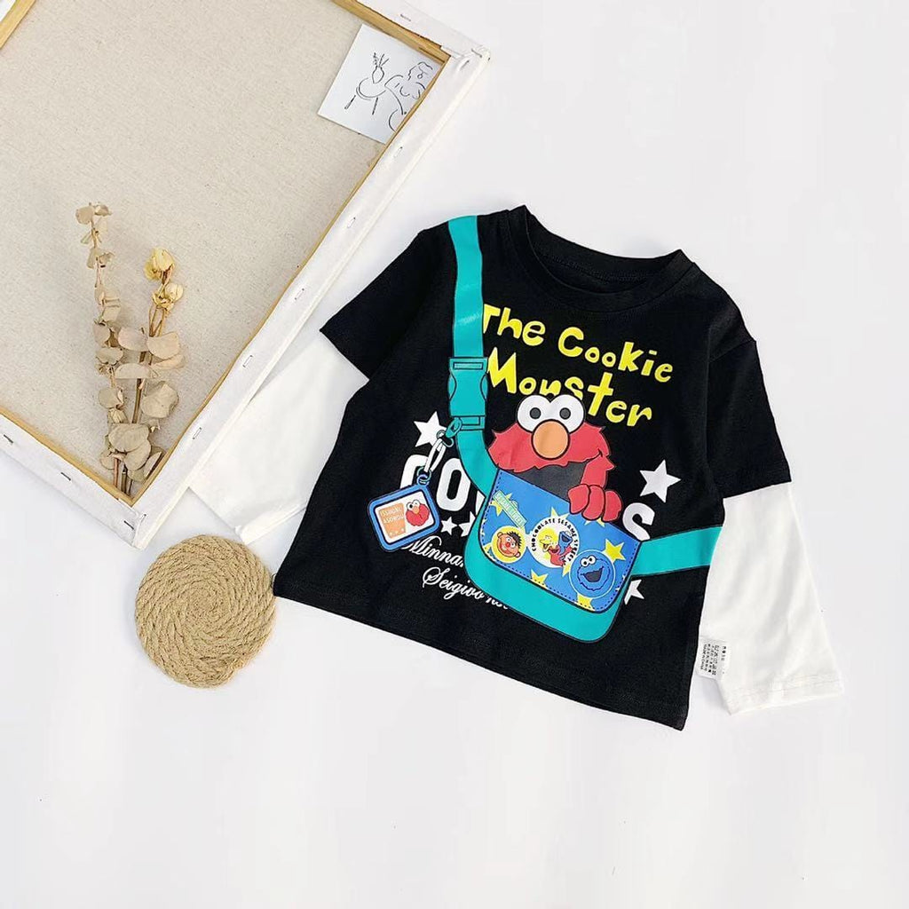 Toddler Boy / Girl Cartoon Sesame Street Long Sleeve Cotton Top