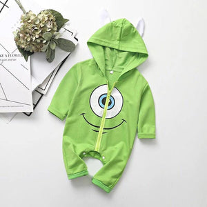 Baby Boy / Girl Cartoon Mike One-Eyed Monster Long Sleeve Jumpsuit