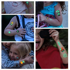 10 PCS Halloween Luminous Tattoo Sticker