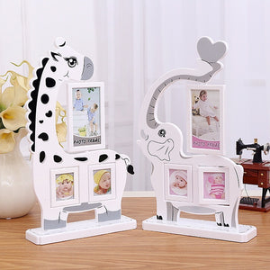 Cute animal shape design children's photo frame(The frame can be rotated)