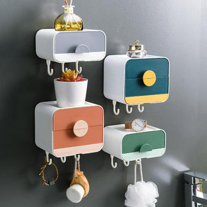 Wall-mounted multifunctional storage box