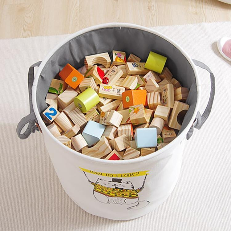 Cartoon large capacity toy clothes storage bucket-homeware
