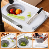 Multifunctional foldable sink cutting board