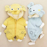Baby elephant down jacket long sleeve jumpsuit