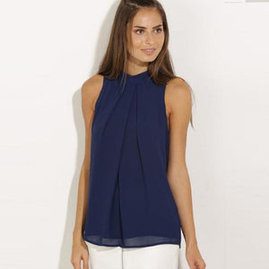 Fashion Chiffon Sleeveless Blouses