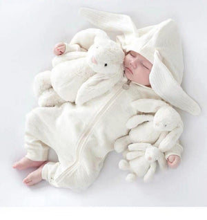 Baby rabbit shape a variety of long-sleeved plus velvet jumpsuit