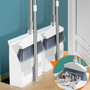 Multifunctional broom and dustpan combination