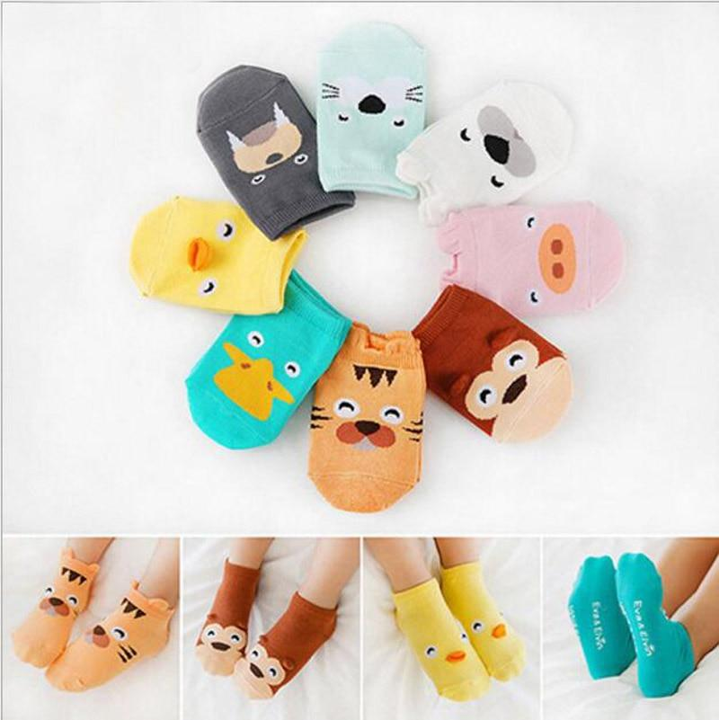 Unisex New born Baby Socks Kids floor sock boys socks girls kids Children cutu animal duck/tiger/monkey pattern socks cotton
