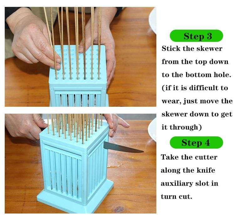 Barbecue helper 49 string skewers artifact machine barbecue meat stringer