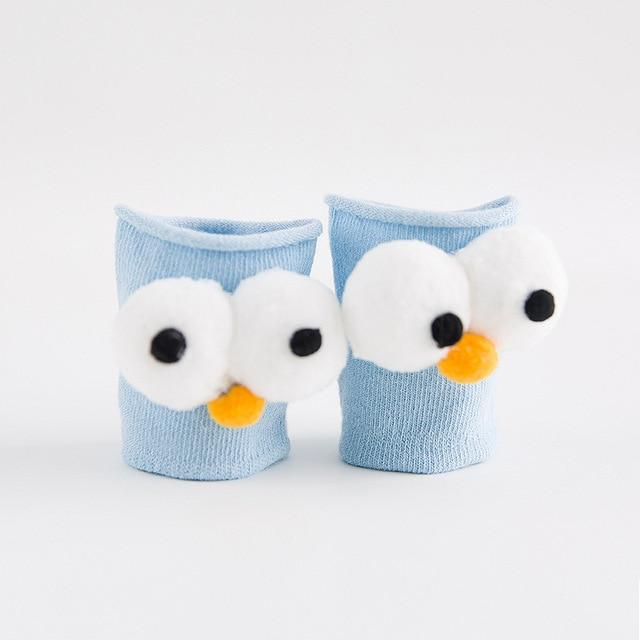glittery sweet Cute Cartoon Baby Socks Cotton Warm Kids Boy Girl Sock Big Eyes Newborn Toddler Socks Clothing Accessories