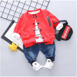 Baby Girls Boys Clothing Sets Spring  Toddler Children Clothes Suits  Coat T Shirt Pants  Infant  Kids Costume
