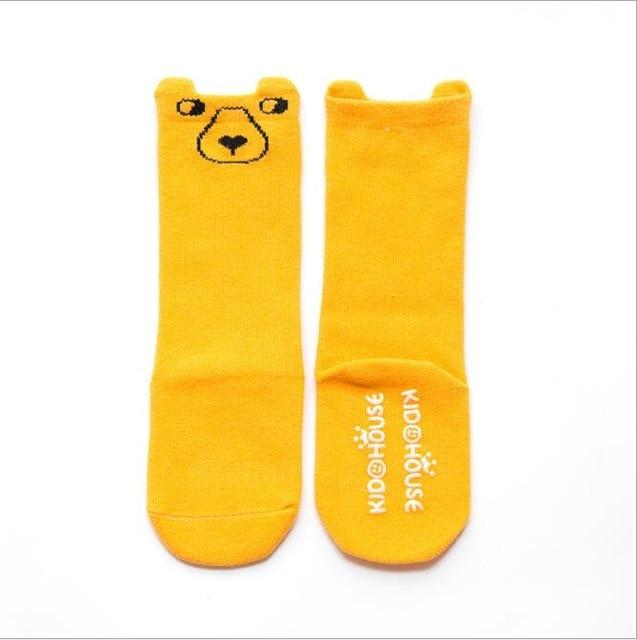 1 Pair Cartoon Winter Baby Socks Anti Slip Cotton Animals Baby Boys Girls Long Sock Newborn Infant Toddler Knee High Socks 0-24M