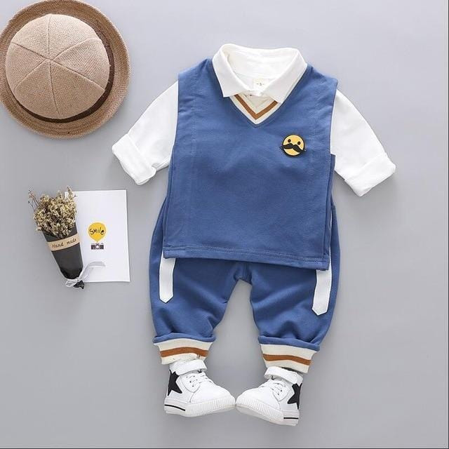 Baby Boys Girls Clothing Sets Infant Children Clothes Suits Toddler Kids Beard Vest T Shirt  Pants Costume