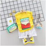 Toddler Boy / Girl Sleeveless Lemon Print Set