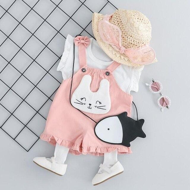 Baby Girl Cartoon Animal Set