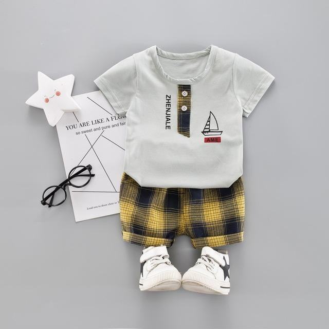 Baby Boys Clothing Sets Infant Toddler Clothes Suits Ferry T Shirt  Shorts Kids Children Casual Suit