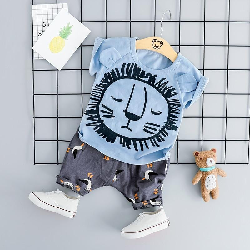 Baby Boys Clothing Sets Toddler  Infant Clothes Suits Cartoon T Shirt Shorts Kids Children Casual Short Suit