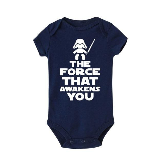The force that awakens you print Infant Baby Rompers Roupas Toddler Jumpsuits Baby Girl boy Clothing Newborn roupa de bebe 0-24M