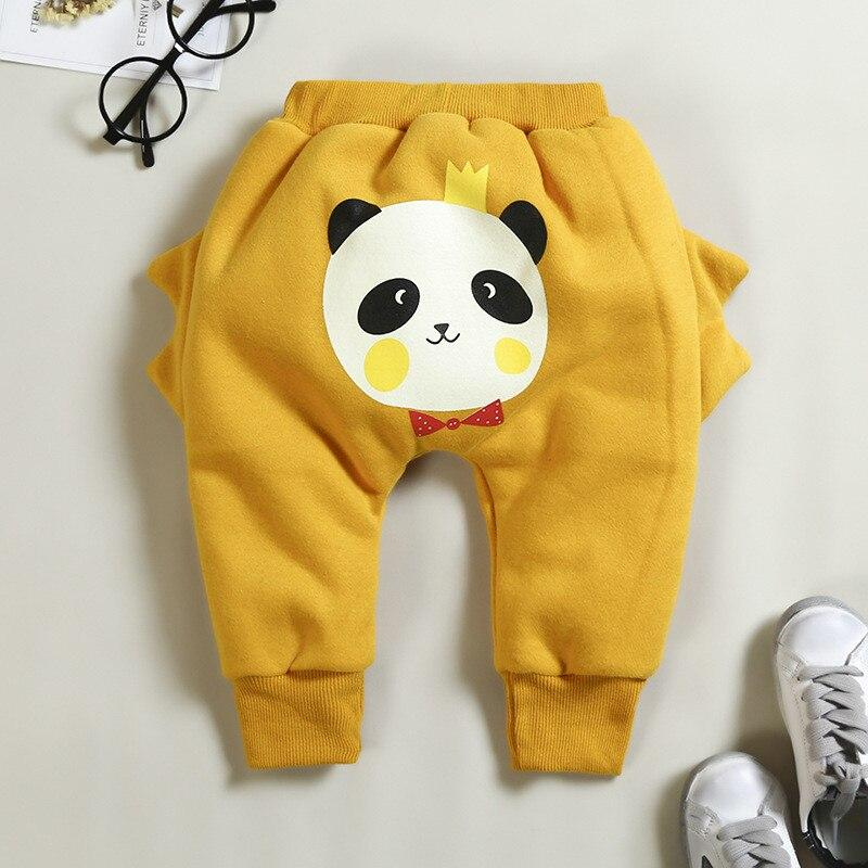 Panda baby thickening a variety of color pants