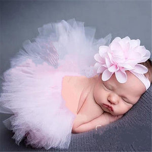 1 Set Newborn Baby Girls Tutu Skirt & Headband Cute Photo Prop Costume Toddler Kids Outfit Infant Baby Short Cake Skirt