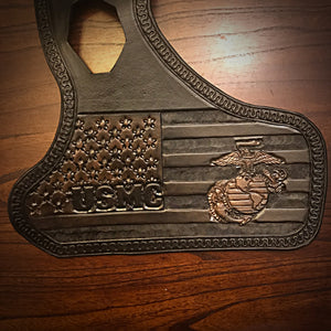 Heat Shield, with Pouch, for Indian Scout motorcycle - Custom Art, Black