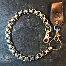 Load image into Gallery viewer, Chainmail Chain - Nuts of Steel - steel nuts, brass rings