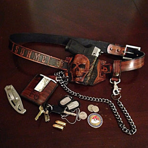 Holster With Skull Art
