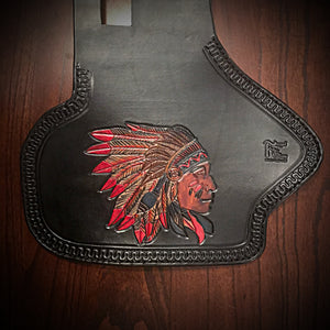 Heat Shield for Indian Cruisers, Baggers & Touring Bikes - Black Custom Art