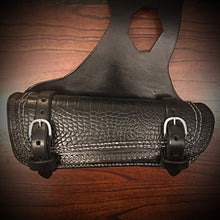 Load image into Gallery viewer, Heat Shield for Indian Scout Motorcycles, Double Pouch, Alligator Print