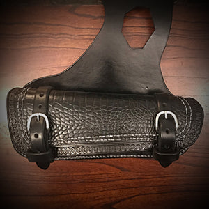 Heat Shield for Indian Scout Motorcycles, Double Pouch, Alligator Print