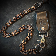 Load image into Gallery viewer, Chainmail Chain - Byzantine Weave- Black & Copper