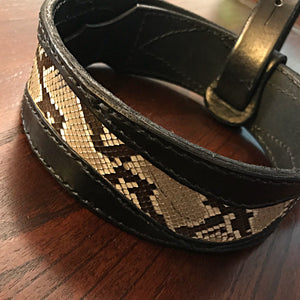 Guitar Strap - Exotic Leather Inlay