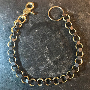 Chainmail Chain - Nuts of Steel - Black Nuts, Brass Rings (ships now)