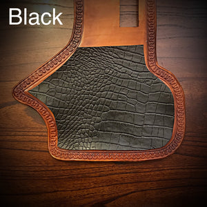 Heat Shield - Embossed Alligator, Indian Tan, Fits Indian Cruisers, Baggers, & Touring Bikes