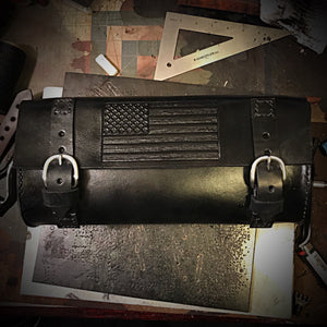 Tool bag for Motorcycle - Old Glory - Black