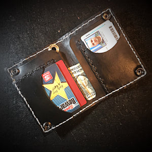 Short Long wallet - American Alligator, with Rectum & Python Inlay (the devils anus wallet)