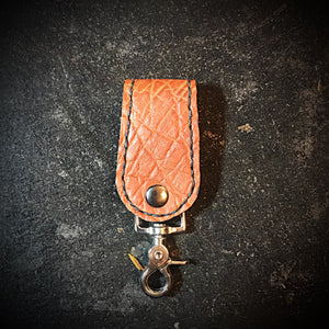 Belt Loop - Elephant, Cigar Tan, Black Stitching