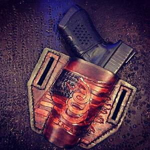 Holster With Old Glory & Gadsden snake