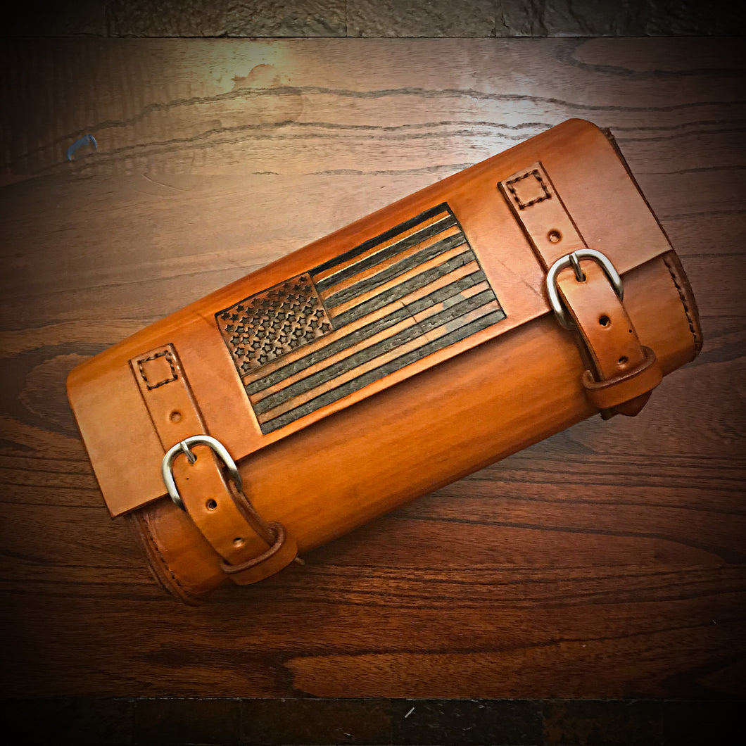 Tool bag for Motorcycle - Old Glory - Indian Tan
